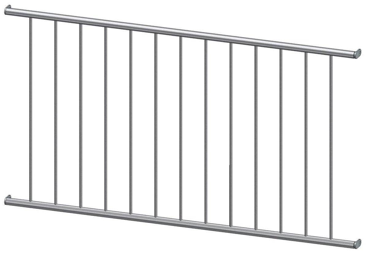 Französischer Balkon Modell Basic Edelstahl - in der Laibung
