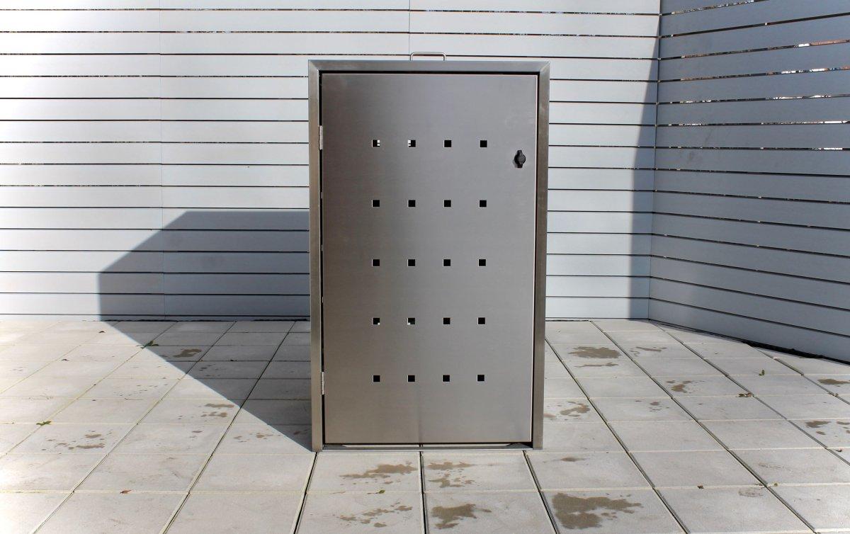 Mülltonnenbox Ecomax 120 Liter Edelstahl 1er - Farbe nach Wahl