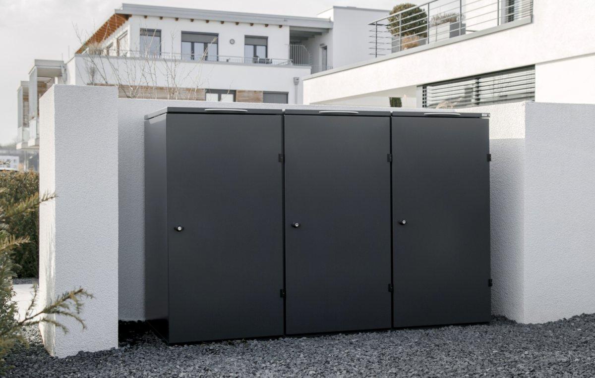 Mülltonnenbox Edelstahl Modell PURE - 120 Liter 1er, 2er, 3er, 4er Box