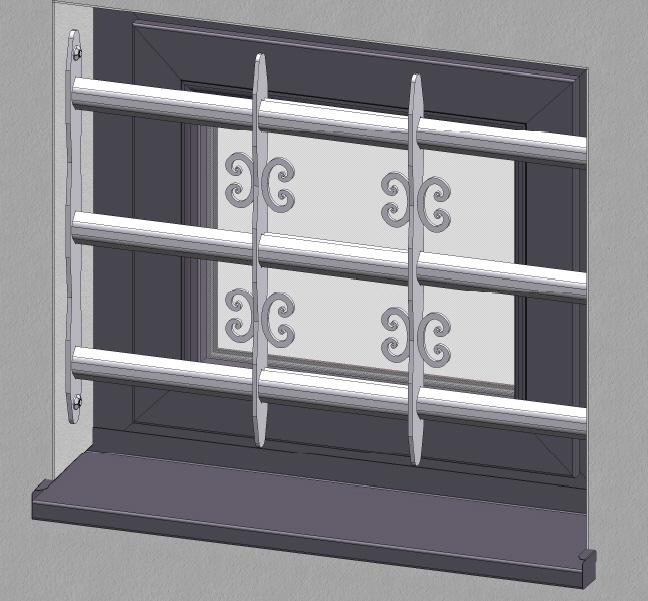 ausziehbares fenstergitter aus edelstahl h he 450 mm. Black Bedroom Furniture Sets. Home Design Ideas