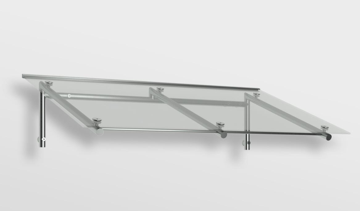 vordach aus edelstahl mit glas. Black Bedroom Furniture Sets. Home Design Ideas