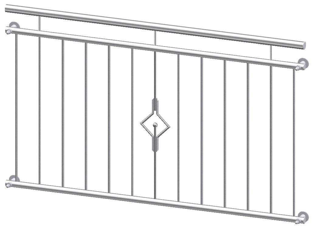 franz sischer balkon dijon edelstahl. Black Bedroom Furniture Sets. Home Design Ideas