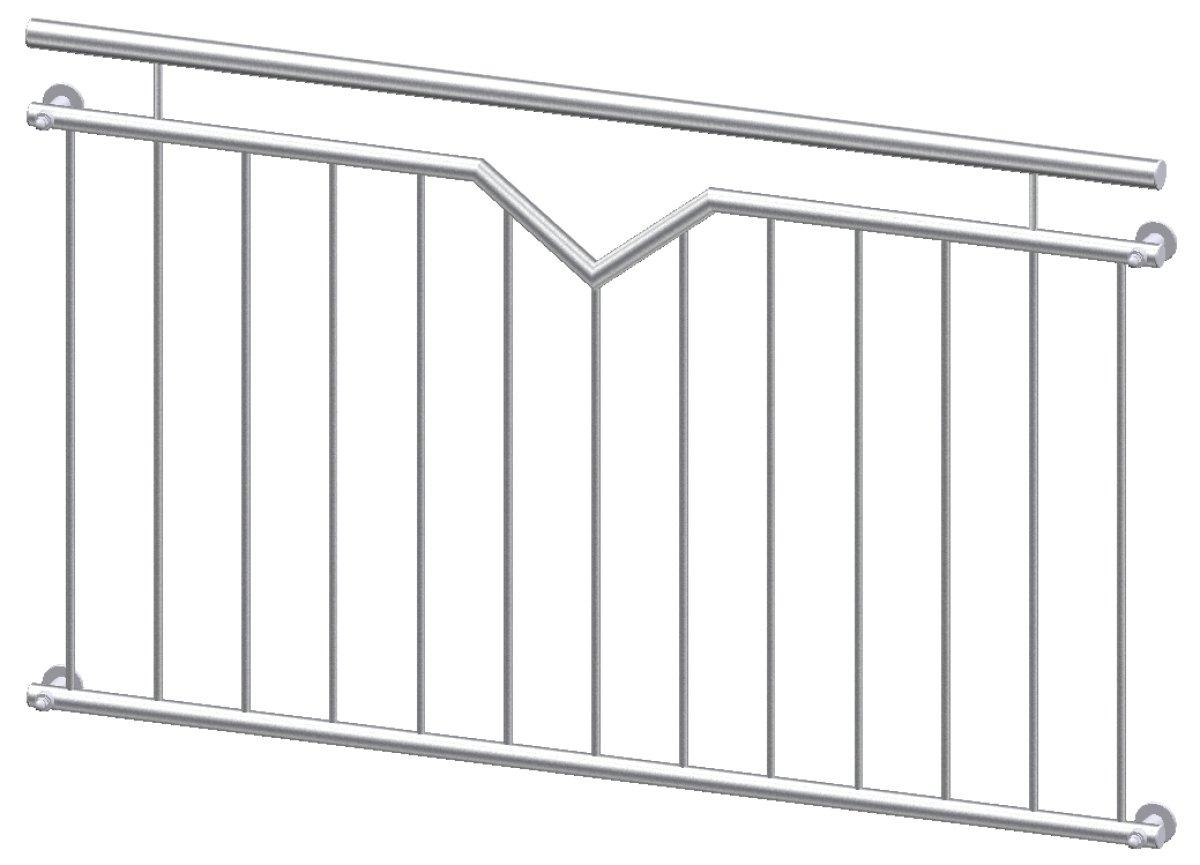 franz sischer balkon nizza aus edelstahl kaufen. Black Bedroom Furniture Sets. Home Design Ideas