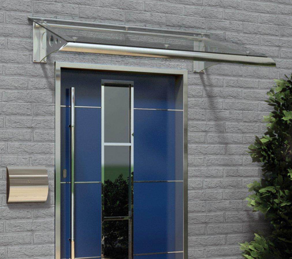 edelstahl glas vordach modern. Black Bedroom Furniture Sets. Home Design Ideas